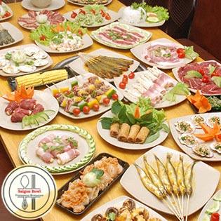 Set Nướng Không Khói 10 Món Cho 2 – 4 Người Tại Sài Gòn Bowl